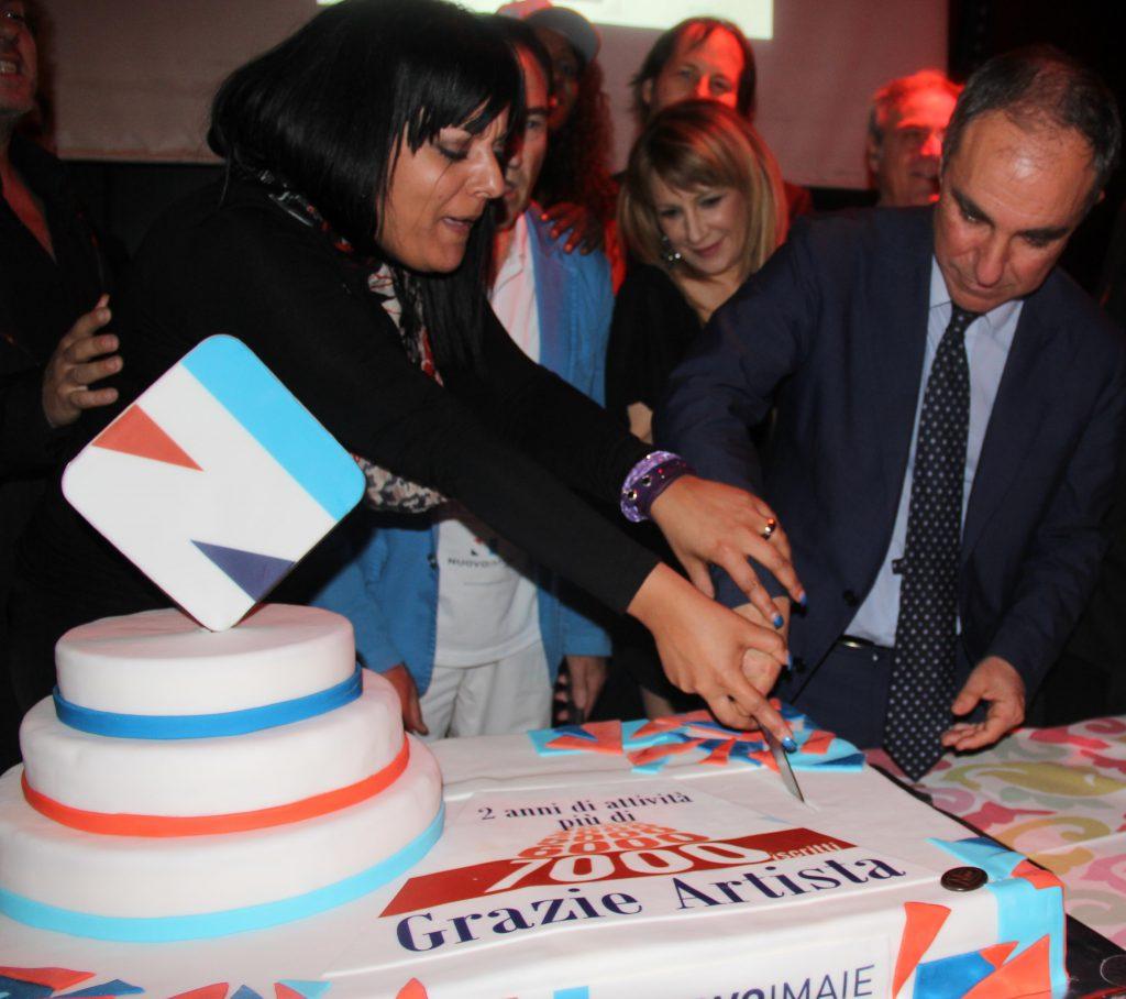 Sabino Mogavero con Presidente Nuovo Imaie Andrea Miccichè e Direttore generale Maila Sansaini
